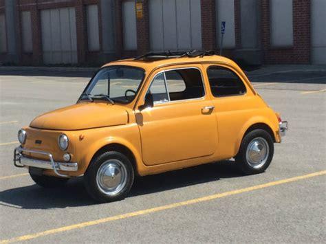 Fiat 500l Abarth by 1970 Yellow Fiat 500l Cinquecento Abarth Microcar For