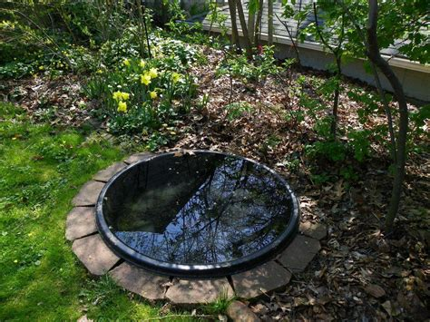 Garden Liner by Paver Method For Sinking Small Preformed Ponds In
