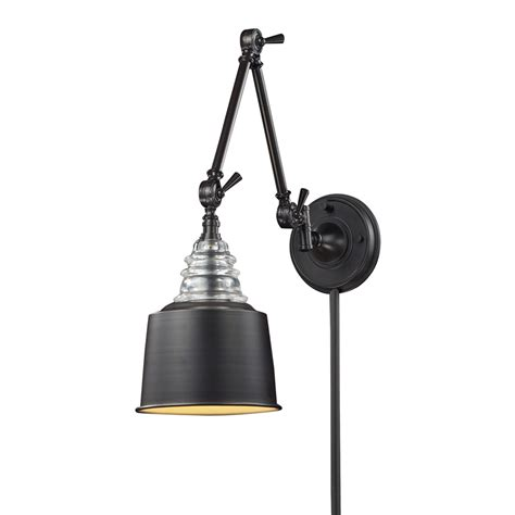 industrial swing arm wall lamp