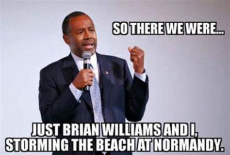 ben carson meme ben carson and brian williams storming normandy beaches