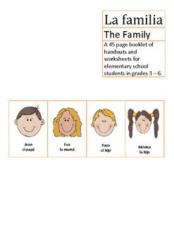 La Familia Worksheets by Pictures La Familia Worksheet Getadating