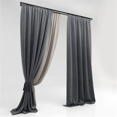 window curtain models curtains 60 3d model max obj cgtrader com