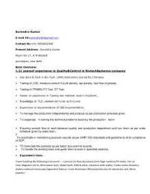 R N Resume Examples by Surendra Resume Of Quality Control And Microbiologist In R