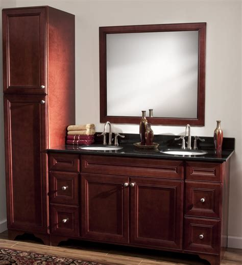 all wood cabinets on all wood bathroom cabinets