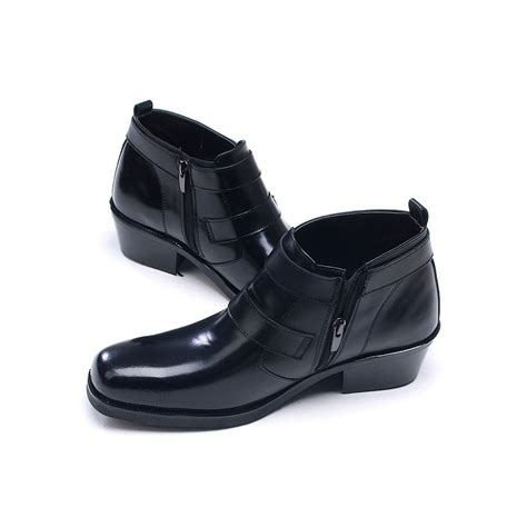 mens buckle ankle boots