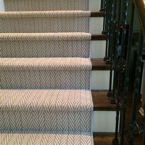 Stair Runner Rug Herringbone Stair Runner Doors Stairs Architectural Details Runners Patterns