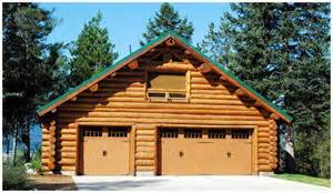 gotta have garage along with your log home and barn apartment