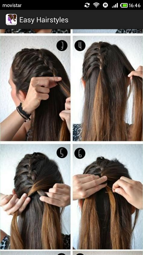 easy hairstyles step by step with pictures easy hairstyles for school step by step immodell net