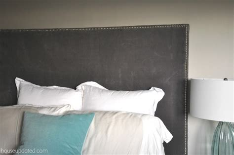 how to make a upholstered headboard how to make a nailhead upholstered headboard house updated