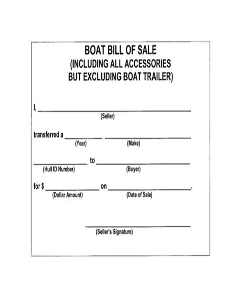 boat bill of sale form sle bill of sale form 11 free documents in word pdf