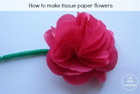 tissue paper flowers with lovebugs
