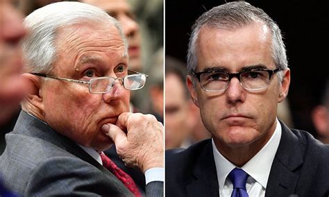 politician briefprobe fired fbi official authorized 2017 criminal probe of jeff sessions