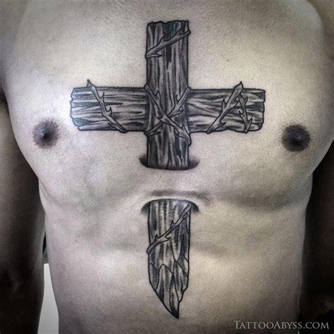tatouage croix en bois tattoo abyss