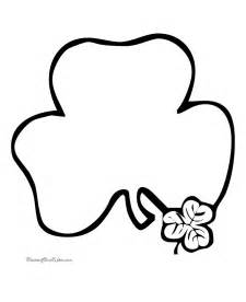 shamrock coloring page free printable shamrock coloring pages 007