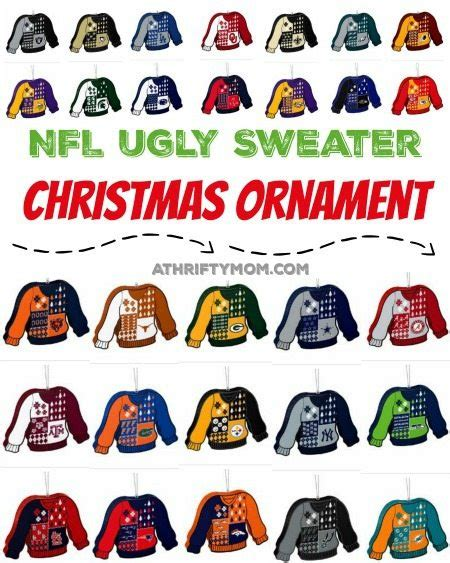nfl ugly sweater christmas ornament ultimate football