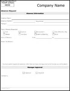 absence template absence request template sle templates