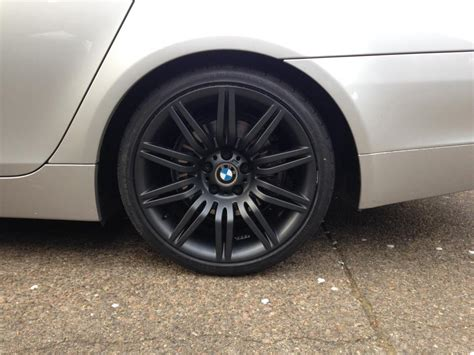 bmw with black rims bmw oem wheels 19 e60 m 172 powder coated black with