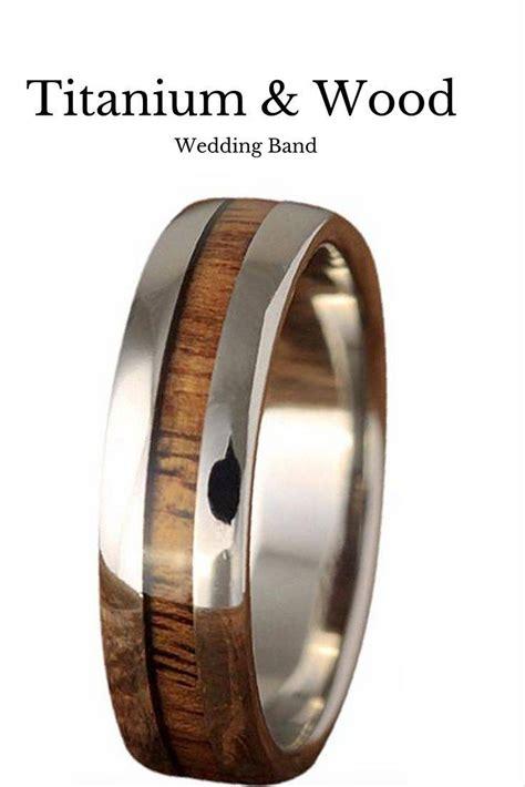 Wedding Bands Guys by Mens Wood Grain Wedding Band Titanium Mens Wood Grain