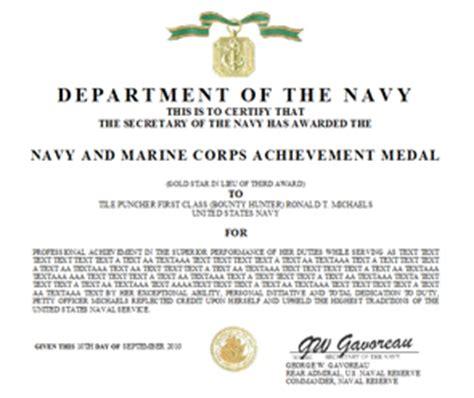 navy marine corps achievement medal