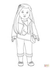 Girl Doll Coloring Pages Grace  Name American sketch template