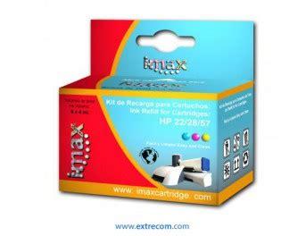 hp 22 2857 color kit de recarga cartucho de tinta ahorra en tinta imax kit de recarga hp 22 28 57 color extrecom consumibles