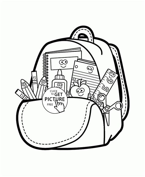 coloring supplies school supplies coloring page for back to