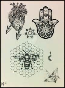 Flower Patterns To Trace - dotwork stippling tattoo flash by katomacabre on deviantart