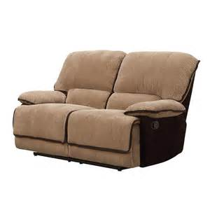 Brown Loveseat Homelegance Grantham Double Reclining Loveseat In