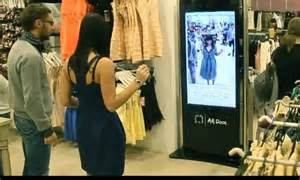 The Technology To Hit The Fitting Rooms Interactive Mirrors by Changing Room Shoppers Need Never Get