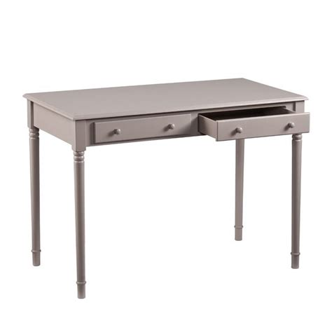 southern enterprises writing desk southern enterprises janice 2 drawer writing desk in gray