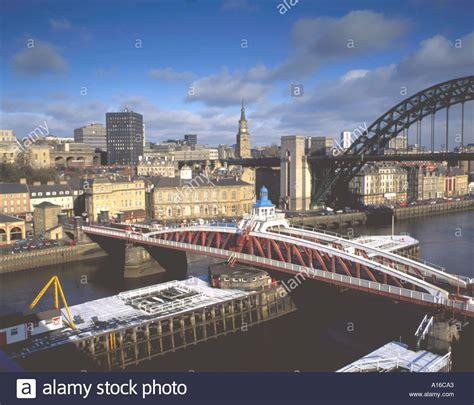 river tyne swing bridge city of newcastle upon tyne seen over the river tyne and