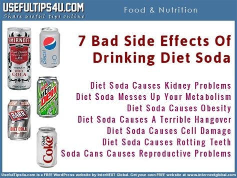 What Side Effects Does Detoxing From Soda by Diet Soft Drinks Runs