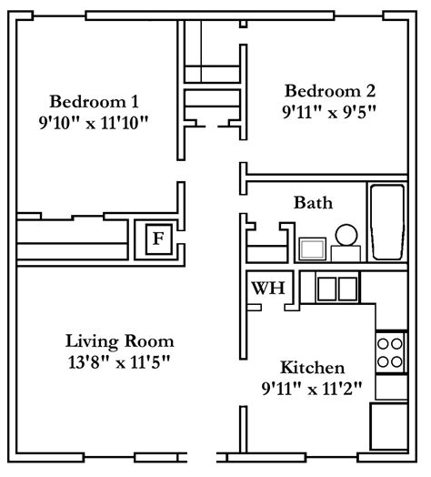 two bedroom apartment floor plan two bedroom floor plans cherry hill towers luxury apartment