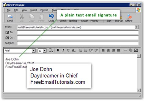 email format specification automatically add an email signature to outlook express