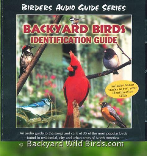 backyard bird identification chart backyard birds identification guide cd
