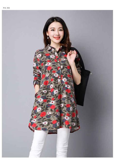 Blouse Bunga Bunga blouse motif bunga lengan panjang murah myrosefashion