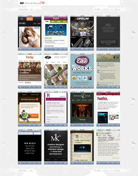iphone css layout 15 web galleries for design inspiration