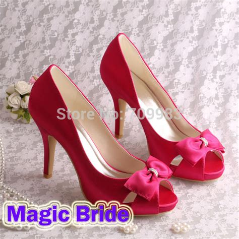 brand name pink heels 2015 wedding shoes peep