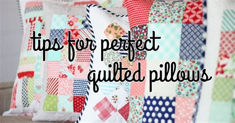 Everyday Celebrations Simple Patchwork Pillows Free Pattern - everyday celebrations tutorial tips for quilted