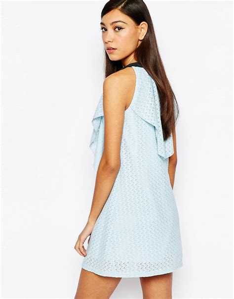 Dress With Contrast Detail tinker lace dress with contrast detail by blue