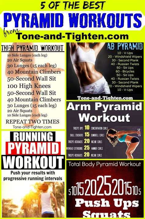 weekly workout plan one week of pyramid workouts all
