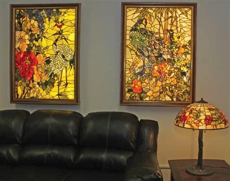 backlit gemstone art nouveau wall art   gemstone