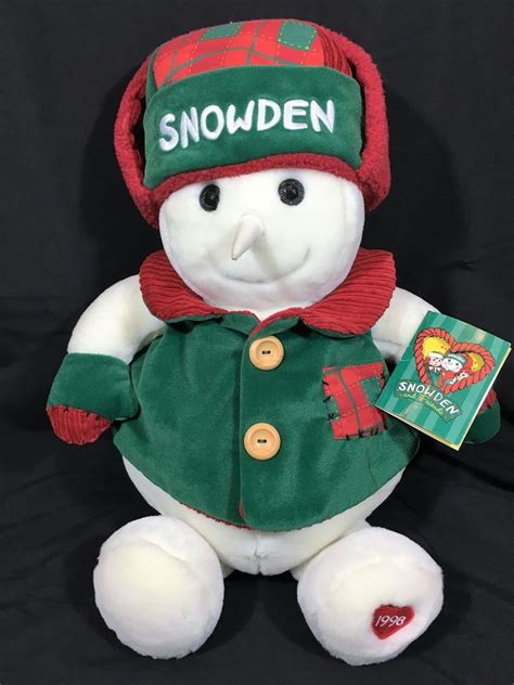 vintage 1998 snowden plush 22 snowman stuffed animal