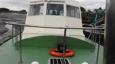 full house boat mv landward trinity house pilot boat full live aboard with shower galley etc 163