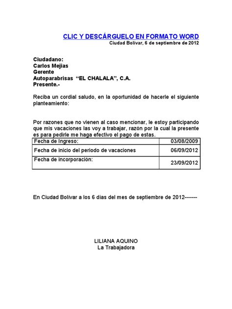 formato de supervivencia 2016 formato recibo pago de vacaciones seg 250 n la lottt