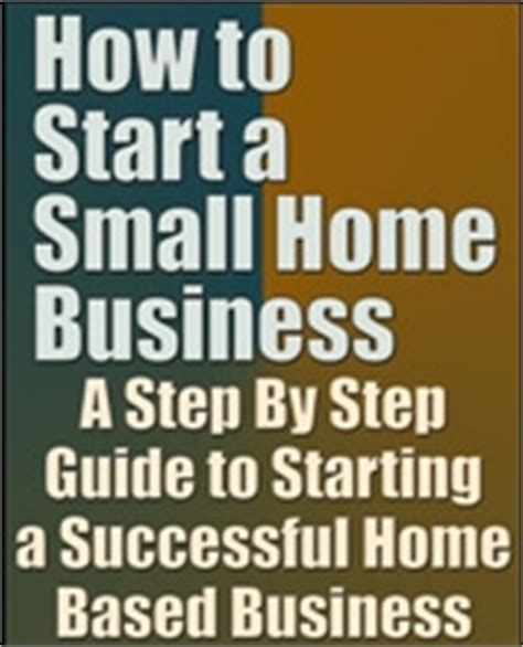Start Business From Home by Free Book How To Start A Small Home Business Pdf Download