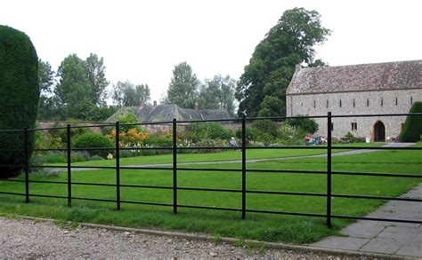 traditional wrought iron estate parkland fencing