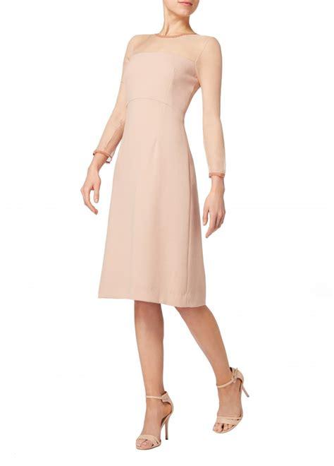flavia dress with chiffon decollete