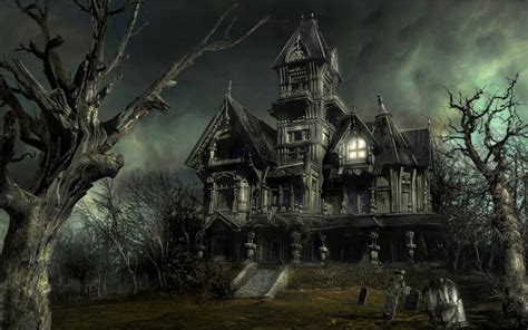 halloween haunted houses haunted house halloween wallpaper 16050692 fanpop
