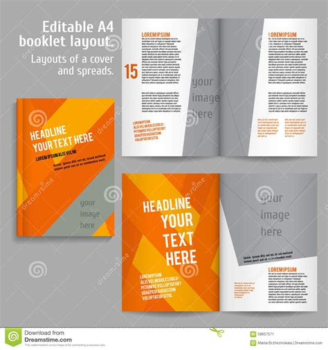 a4 book layout design a4 book layout design template stock vector image 58657571